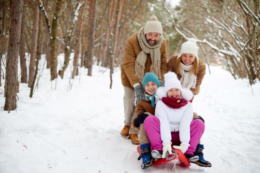Enjoy the family sledding!
